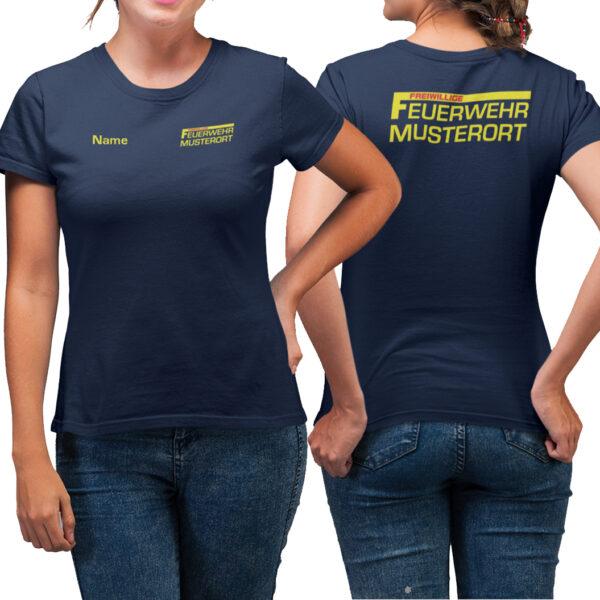 T-Shirt Frauen | Freiwillige Feuerwehr mit Ortsname Basic